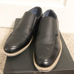 Alpine Swiss Black Slip On Loafer Dress Shoe - 8